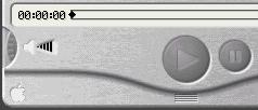 Quicktime Playerin 4-versiossa äänenvoimakkuussäädin jäljitteli muovista pyörylää. Sitä oli niin hankala operoida, että Apple mahdollisti äänen säätämisen myös vieressä olevaa äänenvoimakkuusindikaattoria tökkimällä. Hyvin ei toiminut sekään.