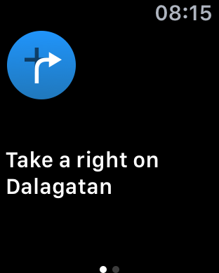 Navigointi toimii hyvin kunhan määränpään saa määritettyä.