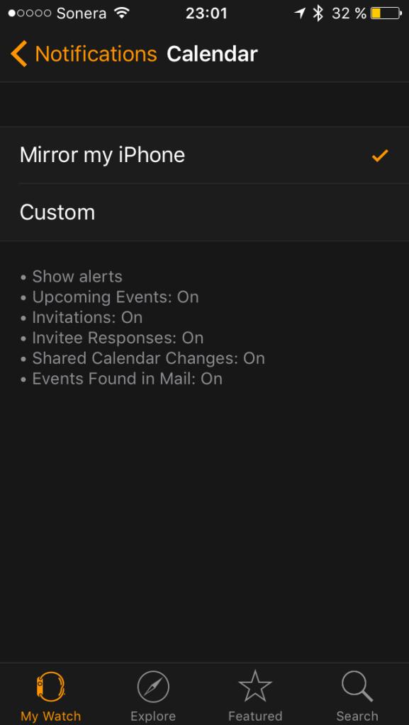 Applen omissa sovelluksissa on mahdollista säätää kelloon omat ilmoitussäännöt